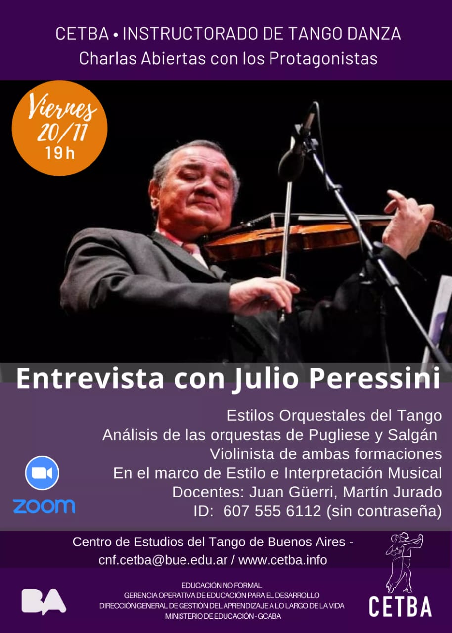Charla con Julio Peressini