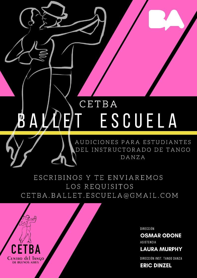Audiciones Ballet escuela CETBA