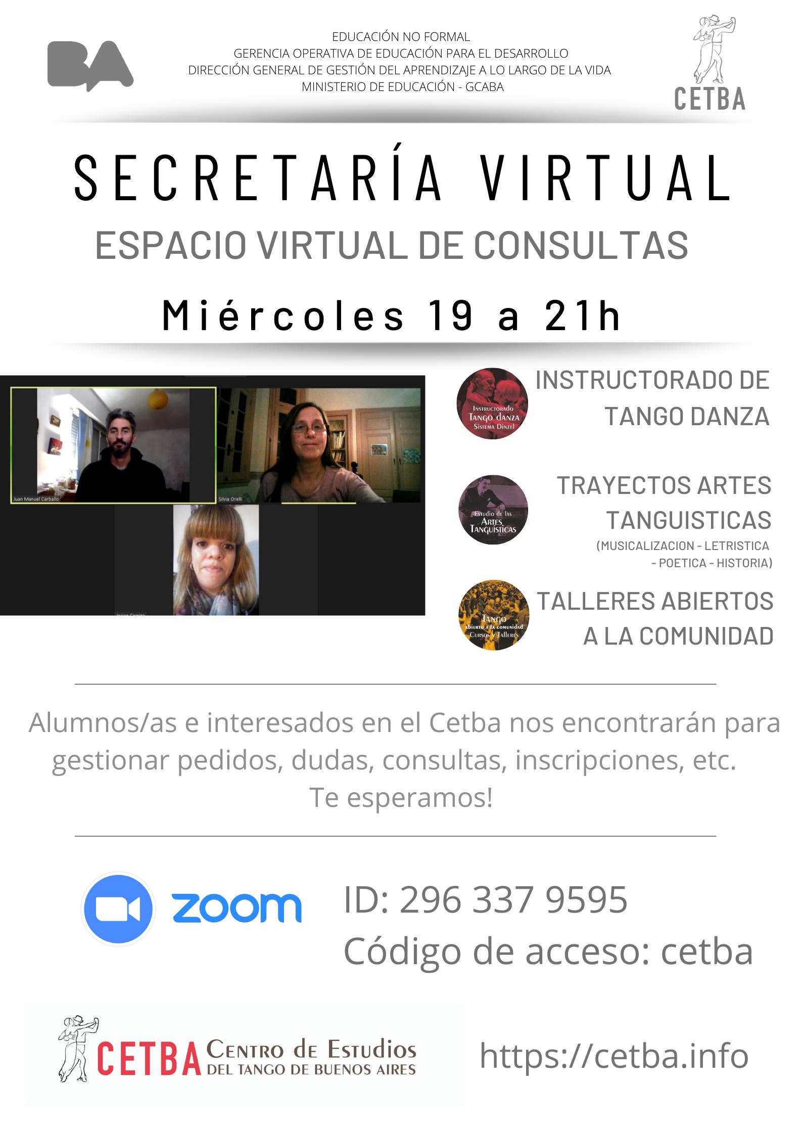 Secretaría virtual Cetba