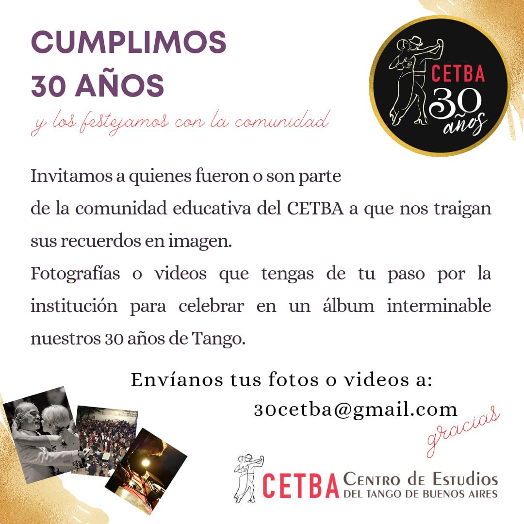 El Cetba festeja 30 años