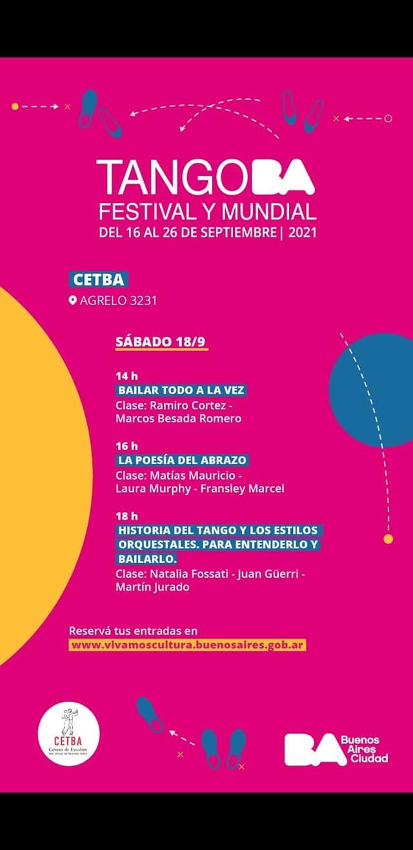 El Cetba en el festival de Tango de Bs as
